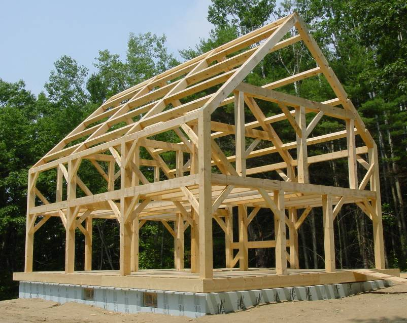 Hj lmaren my house for Small timber frame house designs