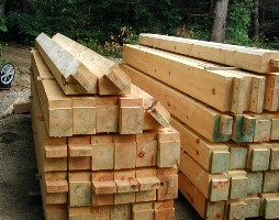 pile of timbers