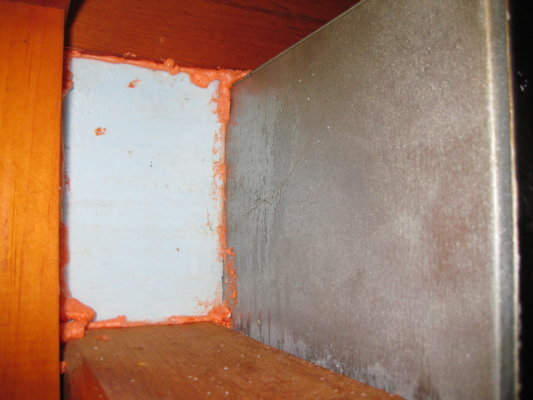 Insulating behind